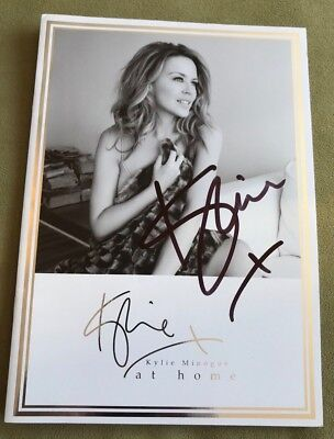 Kylie Minogue SIGNED Kylie At Home 2013 brochure