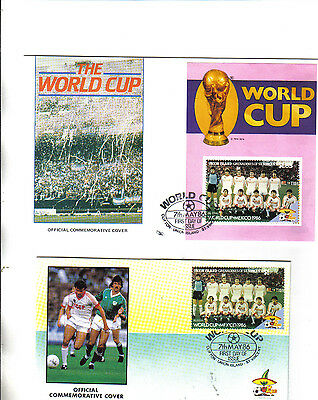 2 1986 world cup first day covers featuring russia