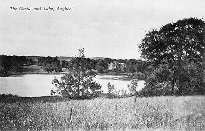 The Castle & Lake Augher Co. Tyrone Ireland Vintage Irish Postcard
