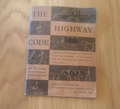 Vintage 1940s The Highway Code Minister of Transport Booklet Free Postage