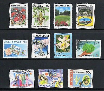 Malaysia -- 11 different used commemoratives from 1992-94 -- catalog $8.25