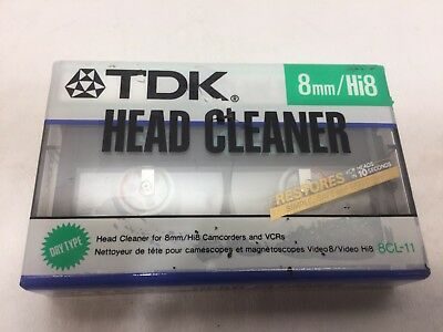 TDK Head Cleaner 8CL-11 TDK 8CL11 8mm Dry Head Cleaner