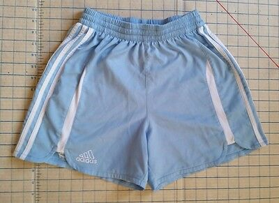Adidas Climacool Kids Shorts Youth sz S Small Soccer Light Blue White