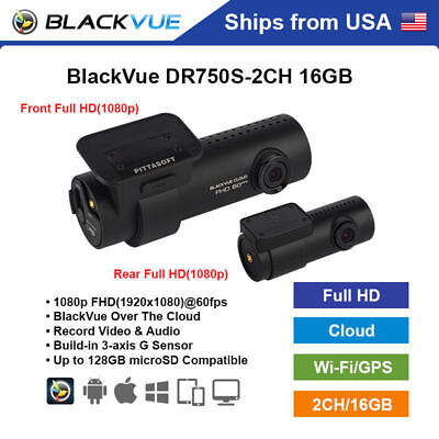 BlackVue 2 Channel DR750S-2CH Full HD WiFi GPS 16GB Dashcam