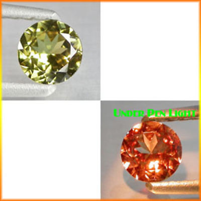 0.85Ct EXTREME Quality Gem - Natural Olive Yellow 2 Red Color CHANGE GARNET QW10