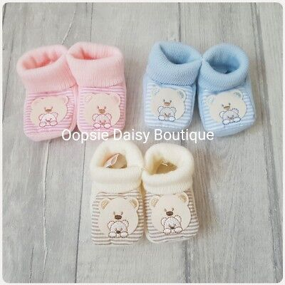 Baby Boys Girls Lovely Soft Teddybear Slippers Booties ☆