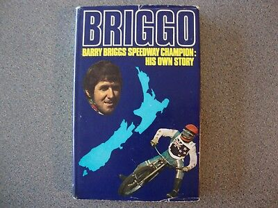 """Autographed Hard Backed Speedway Book """"briggo His Own Story"""" ,1972. 192 Pages."""