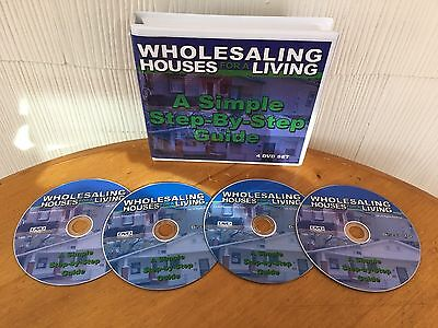 Wholesaling Houses For A Living Real Estate Course By Mike Collins - 4 DVD SET!