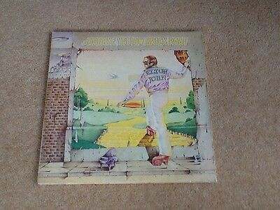 ELTON JOHN Goodbye Yellow Brick Road  LP UK 1st **YELLOW VINYL1973