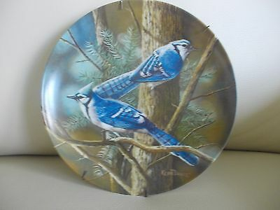 1985 Knowles Plate 'The Blue Jay' By Kevin Daniel, Mint W/COA, Hanger