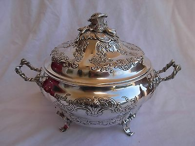 Antique Sterling Silver Vegetable Dish,xviii Century