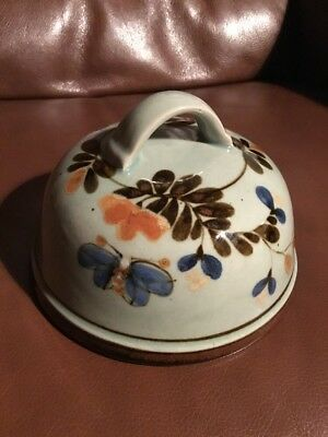 Highland Stoneware Domed Cheese Dish ( Immaculate Vintage Piece )