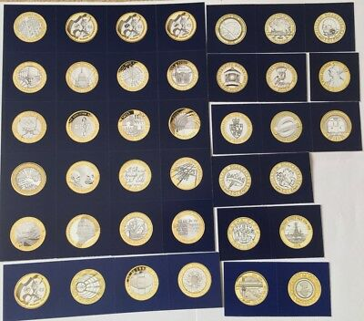 39x Change Checker Cards for the Two Pound Coins (No Coins, Cards Only)