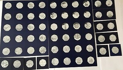 58x Change Checker Cards for the Fifty Pence Coins (No Coins, Cards Only)