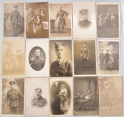 Military Soldier Postcards WW1 Collection Job Lot Group Wounded Wedding