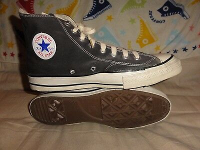 Vintage Converse Black High Tops Made In Usa Size 12 Black Tags 1970
