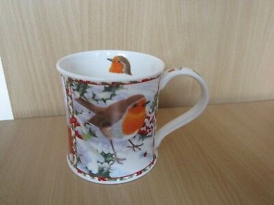 "Dunoon ""Seasons Greetings"" Robin mug designed by Richard Partis - VGC"