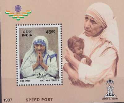India Modern 1997 MS1587 Mother Theresa Miniature Sheet Rs550