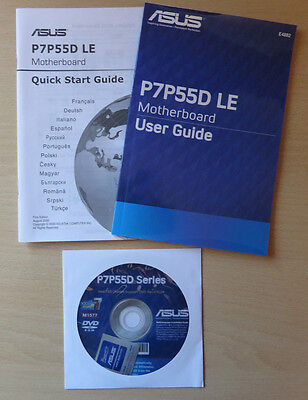 ASUS P7P55D LE User Guide Manual and CD only (no motherboard)