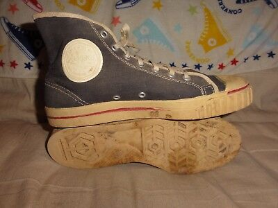 VINTAGE SEARS JEEPERS BLACK HIGH TOPS MADE IN USA SIZE 8.5 MENS 1960s CONVERSE