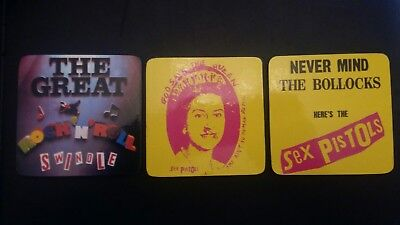 Sex Pistols - 3 mug coasters and box