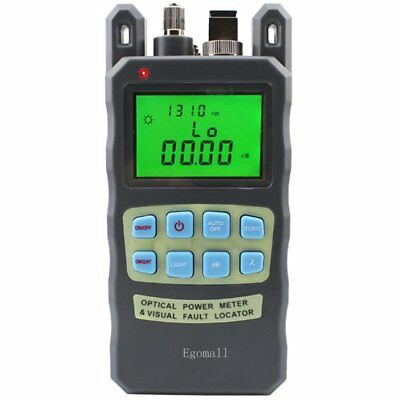 Fiber Optic Cable Tester -70 to +10dbm and 1mw 3.1mi Portable Power Meter Sc Fc