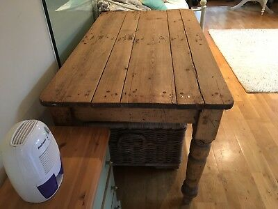 Genuine Antique Pine Farmhouse Table.