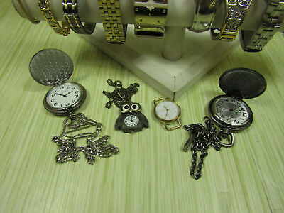 Lot of Silver Tone & Gold Tone Jewelry Analog Watches Disney Pulsar Lorus AS IS