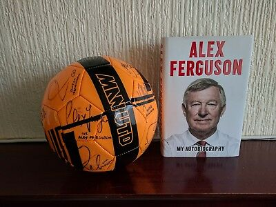 Manchester United FC 2017/18 Squad Signed FootBall 20 Autographs! & Book