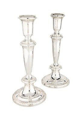 Pair of Cartier Sterling Silver Candlesticks