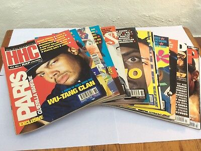 18x HHC Hip Hop Connection Magazines (Assorted Eras) And Puff Daddy Magazine No1