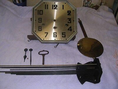 Clock  Parts, Movement   Face, Pendulum/hands  ,key, Chime