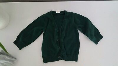 H & M Baby Boy Green Cardigan size 6-9 months Christmas