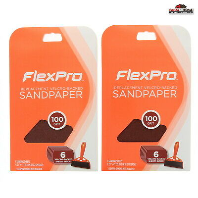FlexPro Hand Sander Replacement Sheets 100 Grit ~ New