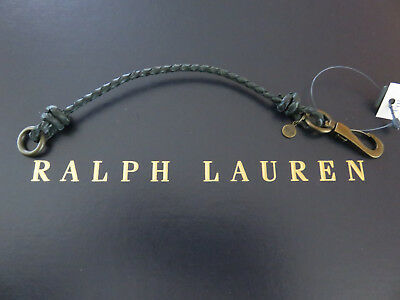 NEW RALPH LAUREN POLO Braided Leather Wrist Strap Bracelet Wristband Green