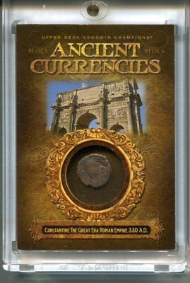 2017 UD Goodwin Champions Ancient Currencies CONSTANTINE THE GREAT ROMAN EMPIRE