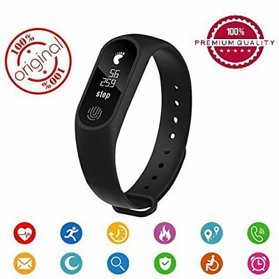 Fitbit - Sport MI Smart Band M2  Bluetooth 4.0 iP67 iOS & Android Notifiiche NEW