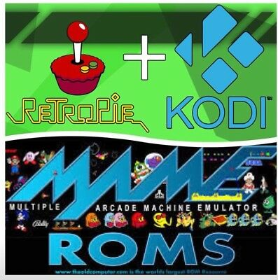 Retropie /Kodi, Raspberry Pi3 Retro 64gb Micro Sd Card ready to go! Plug & Play!