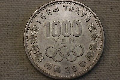 Japan 1964 S39 Silver 1000 Yen Tokyo Olympic Commemorative