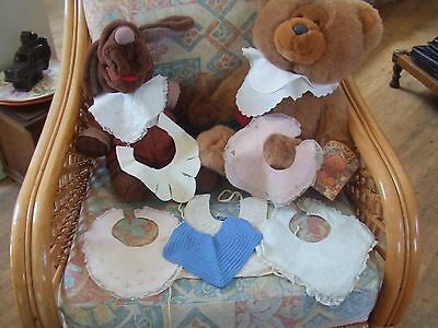 Vintage 1920/30/40s 8x FRENCH baby/child's collars & bibs