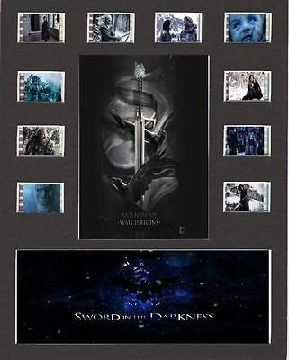 Game Of Thrones Film Cell Presentation 10 x 8 Mounted The Nights Watch