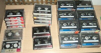 job lot 54  x Vintage TDK Type II (HIgh/ Chome Position) Audio Cassettes Tapes