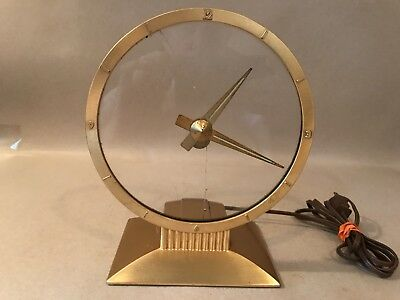Jefferson Golden Hour Mystery Electric Clock Cracked Face