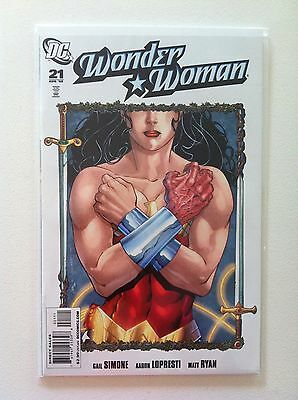 Wonder Woman (2006) #21 Gail Simone Aaron Lopresti Matt Ryan 1St Printing Vf/nm