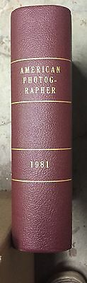 AMERICAN PHOTOGRAPHER - 1981 Leather Bound Edition