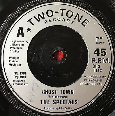 THE SPECIALS - GHOST TOWN  b/w  WHY? / FRIDAY NIGHT, SATURDAY MORNING  (1981)