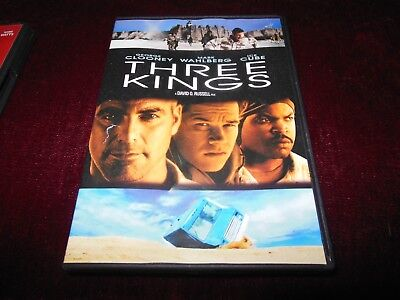 Three Kings DVD, Clooney, Wahlberg, Cube - Like New - Watched Once