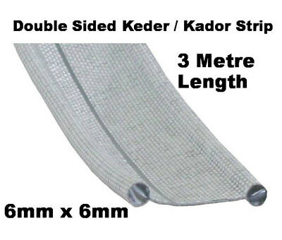 Drive Away Awning Kador / Keder Strip Double Sided 6mm x 6mm 3 metre Length 10ft