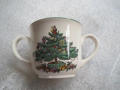 SPODE CHRISTMAS TREE PATTERN two handled cup