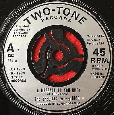 "THE SPECIALS - A MESSAGE TO YOU RUDY  b/w  NITE KLUB  (1979)  7"" vinyl single"